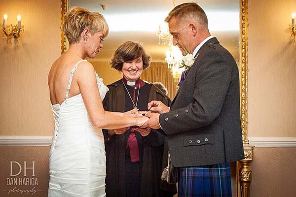 Wedding Ceremony at The Kingswood Hotel Burntisland Fife Scotland