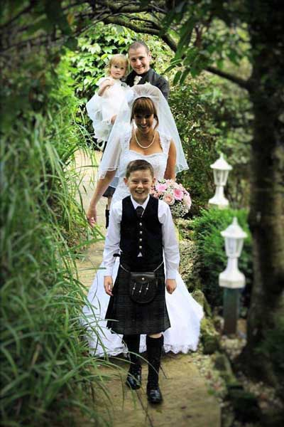 The Secret Garden Wedding Venue at The Kingswood Hotel Burntisland Fife East Scotland