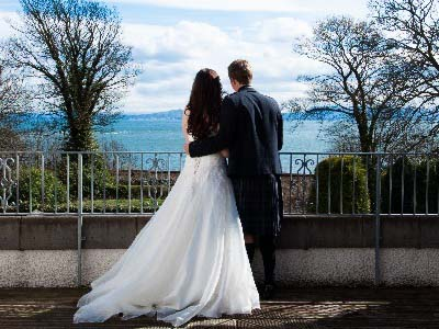 Looking across the Firth of Forth Kingswood Hotel Wedding Venue Burntisland Fife