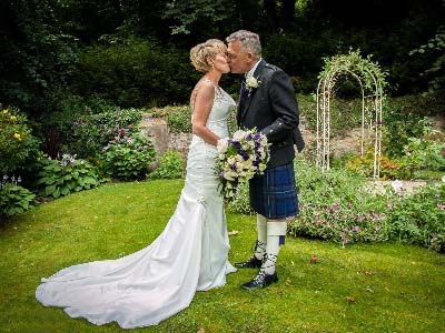 Kingswood Gardens Wedding Ceremony Venue at The Kingswood Hotel Burntisland Fife