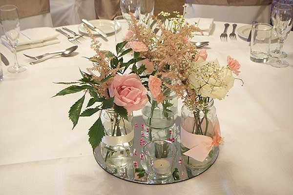 Kinhswood Hotel Wedding table decor Burntisland Fife Scotland