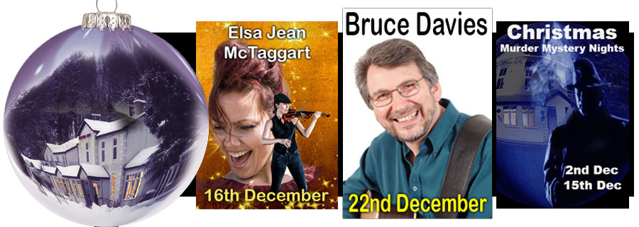 Entertainment for December 2017 at The Kingswood Hotel, Burntisland Fufe Scotland