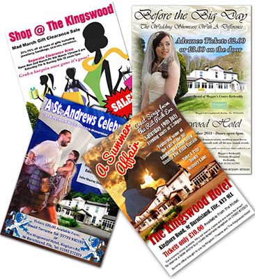 Don't miss any of our events at The Kingswood Hotel in Fife. Join our newsletter and follow us on Facebook.