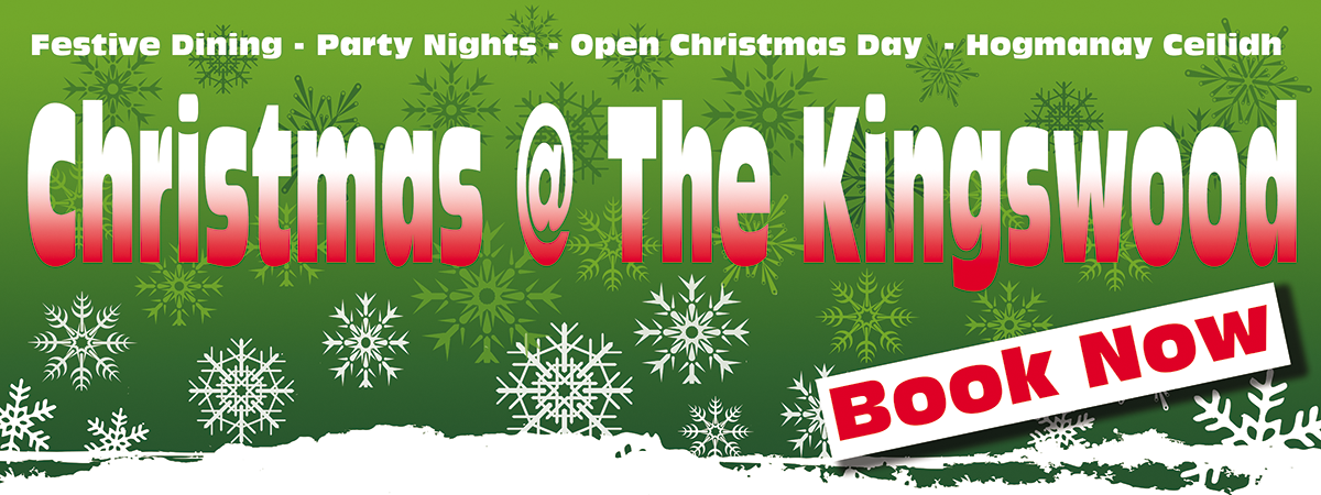 Christmas & Hogmanay celebrations at The Kingswood Hotel Fife Scotland