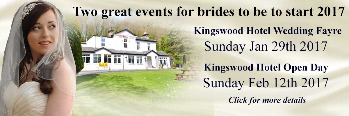 Wedding events at THe Kingswood Hotel Burntisland Fife to start 2017