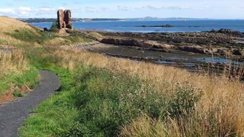 The Fife Coastal Path between Kinghorn and Kirkcaldy