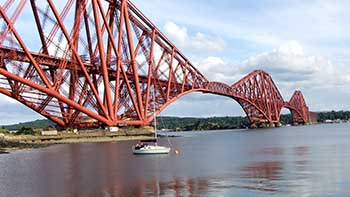 The Forth Road Bridge Fife East Scotland
