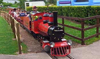 Train ride Craigtoun Park near St Andrews Fife Scotland