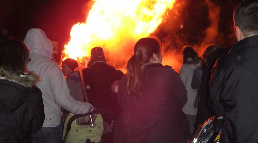 Bonfire night on the links Burntisland