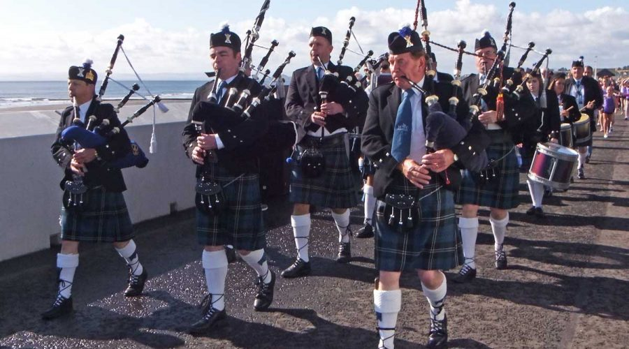 Scottish Pipers in Fife