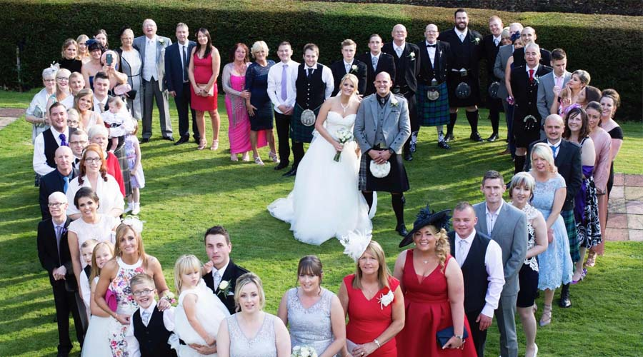 Wedding group at The Kingswood Hotel Burntisland Fife