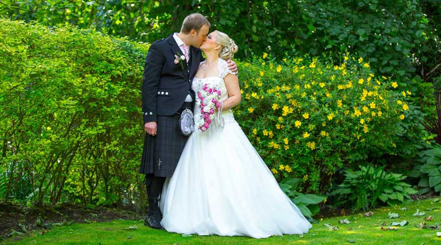 Bride & Groom at The Kingswood Hotel Wedding Venue Burntisland Fife