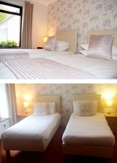 Kingswood Hotel Ground Floor Twin Room Accommodation in Fife Scotland