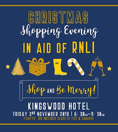 RNLI Christmas Shopping Evening at THe KIngswood Hotel Burntisland Fife