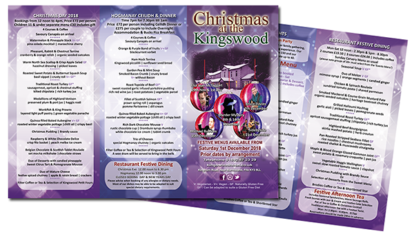 Christmas Events in Fife at The Kingswood Hotel Burntisland Fife