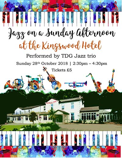 Jazz on a Sunday afternoon in Fife at The Kingswood Hotel Burntisland