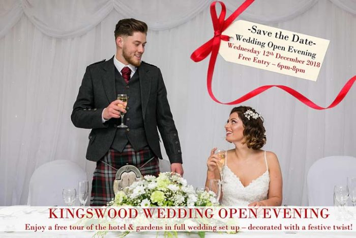 Wedding Open Evening at THe Kingswood Hotel Burntisland Fife
