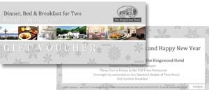 Accommodation Christmas Gift Voucher for stay in Fife at The Kingswood Hotel Burntisland