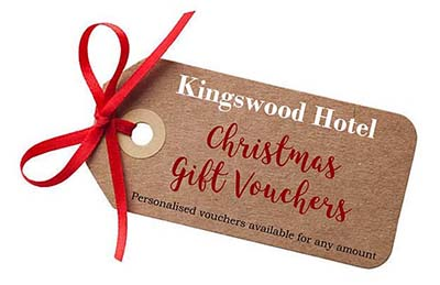 Gift Vouchers from THe Kingswood Hotel Burntisland Fife