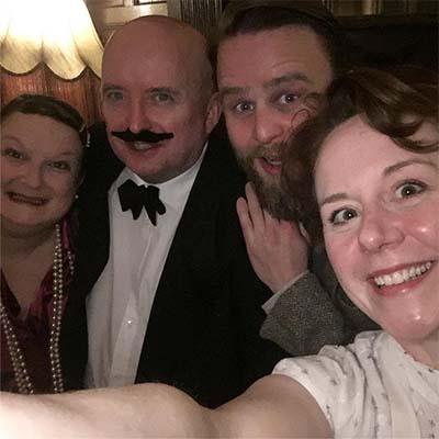 Murder Mystery cast at The Kingswood Hotel Burntisland Fife.