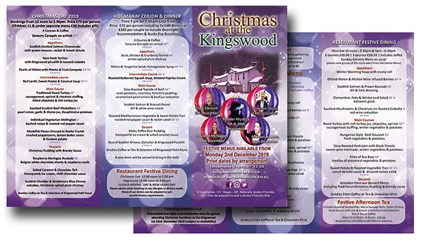 Christmas Brochure - Christtmas in Fife - Eatung out and Live Entertainment.