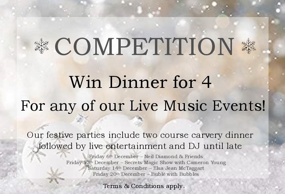 Christmas Competition at THe Kingswood Hotel Burntisland Fife