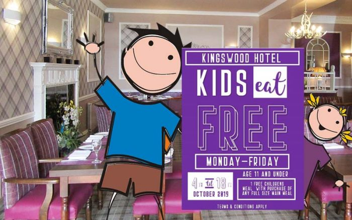 Free meals for kids at The Kingswood Hotel