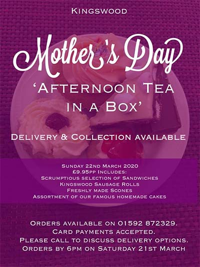Mother's Day Afternoon Tea in a Box.