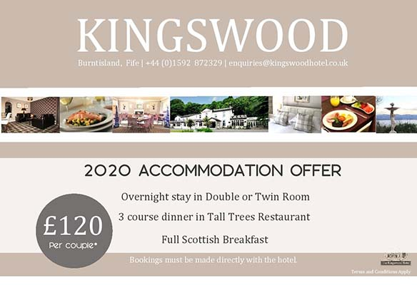 Accommodation offers at The Kingswood Hotel Burntisland Fife for 2021-2022
