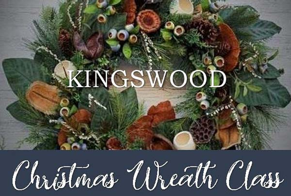 Wreath Making Class Christmas event at The Kingswood Hotel, Burntisland, Fife