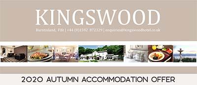 Autumn Accommodation Offer at The Kingswood Hotel Burntisland Fife
